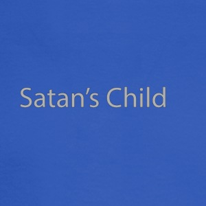 Satan's Child text - Men's Long Sleeve T-Shirt