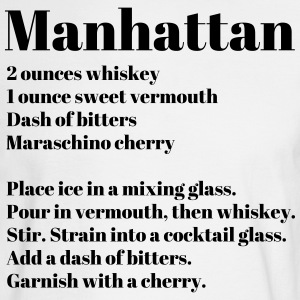 Manhattan Drink Recipe - Men's Long Sleeve T-Shirt