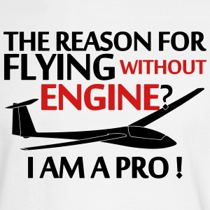 soaring without a engine glider pilot - Men's Long Sleeve T-Shirt