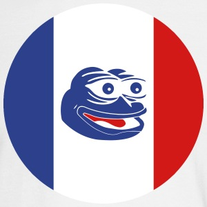 French Pepe the Frog Round - Men's Long Sleeve T-Shirt