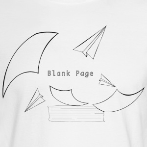 Blank Page Papers Flying - Men's Long Sleeve T-Shirt