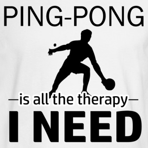Ping Pong is my therapy - Men's Long Sleeve T-Shirt