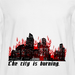 The City is Burning - Men's Long Sleeve T-Shirt