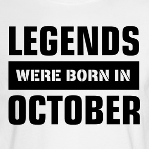 Legends were born in October - Men's Long Sleeve T-Shirt