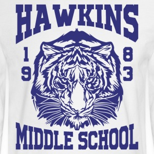 Hawkins Middle School 1983 Tiger - Men's Long Sleeve T-Shirt