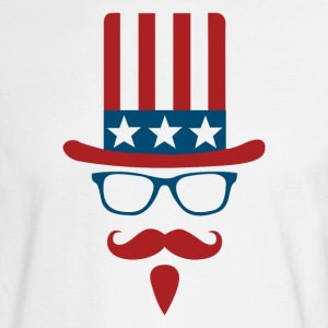 Uncle sam glasses and mustache - Men's Long Sleeve T-Shirt
