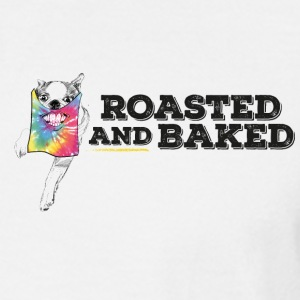 ROASTED AND BAKED TieDye doggy - Men's Long Sleeve T-Shirt