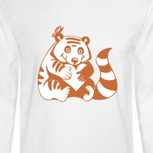Valentine Raccoon with Heart - Men's Long Sleeve T-Shirt