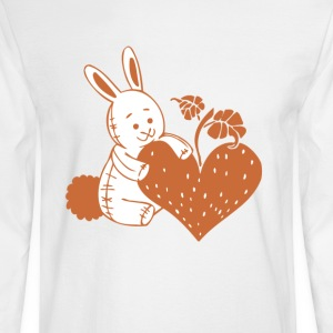 Valentine Rabbit with Heart - Men's Long Sleeve T-Shirt