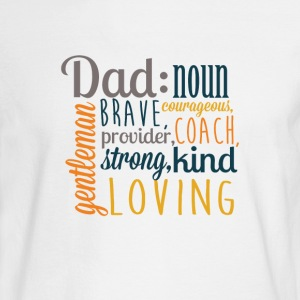 Definition of DAD - Father's Day Graphic T-shirt - Men's Long Sleeve T-Shirt