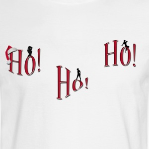 ho-ho-ho Naughty Christmas shirt - Men's Long Sleeve T-Shirt