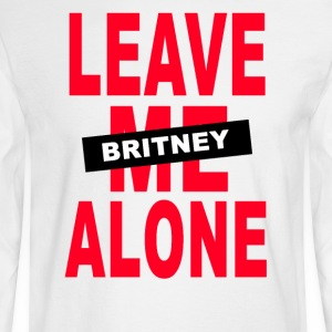 leave me alone britney - Men's Long Sleeve T-Shirt