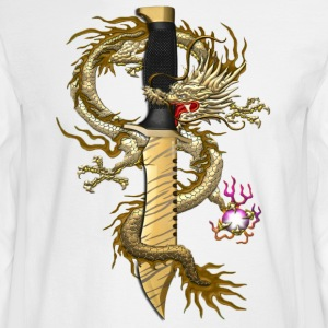 Bowie Tiger Tooth Dragon - Men's Long Sleeve T-Shirt