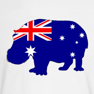 Australian Flag - Hippopotamus - Men's Long Sleeve T-Shirt