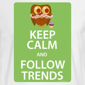 Keep Calm Trendy Bacon Owl - Men's Long Sleeve T-Shirt