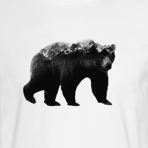 Bear and Mountains - Men's Long Sleeve T-Shirt