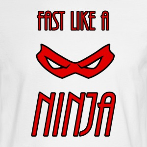 Fast_Ninja_Red - Men's Long Sleeve T-Shirt