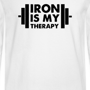 Iron is My Therapy - Men's Long Sleeve T-Shirt