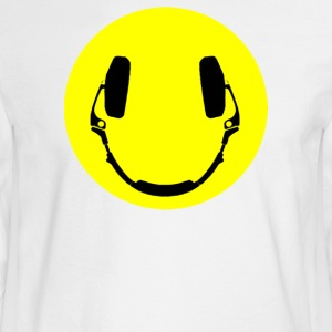 Headphones smiley - Men's Long Sleeve T-Shirt