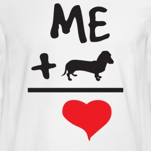 Me Plus Doxies Equals Love - Men's Long Sleeve T-Shirt