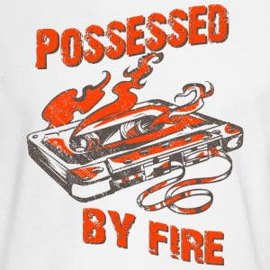 Possessed by fire - old school tape t-shirt design - Men's Long Sleeve T-Shirt