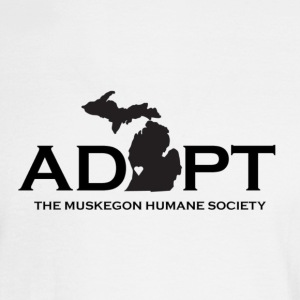 Black Adopt Michigan Logo - Men's Long Sleeve T-Shirt