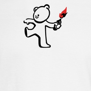 Banksy Molotov Cocktail Terrorist Teddy Ted Men - Men's Long Sleeve T-Shirt