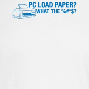 Pc Load Paper - Men's Long Sleeve T-Shirt