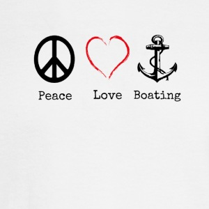 Peace Love and Boating, Funny Boating Gift - Men's Long Sleeve T-Shirt