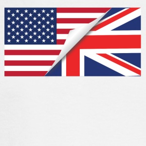 Half American Half British Flag - Men's Long Sleeve T-Shirt