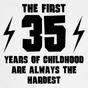 The First 35 Years Of Childhood - Men's Long Sleeve T-Shirt