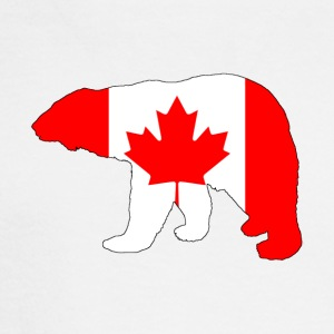 Canada Flag - Polar Bear - Men's Long Sleeve T-Shirt