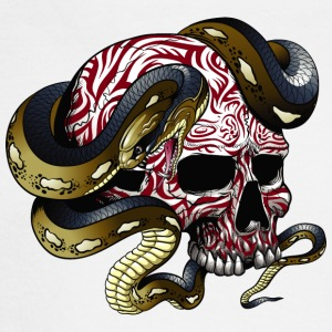 Monster_skull_with_snake - Men's Long Sleeve T-Shirt