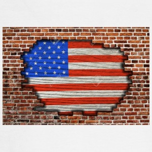 23168837-American-flag-on-old-brick-wall-Texture-o - Men's Long Sleeve T-Shirt