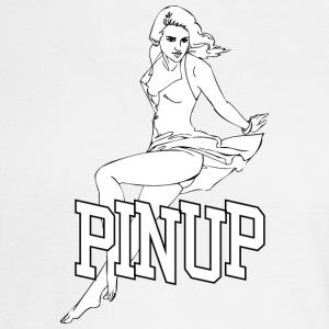 laying_pinup_sexy_girl - Men's Long Sleeve T-Shirt