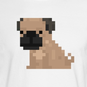 Pixel Pug - Men's Long Sleeve T-Shirt