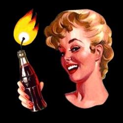 Coca-Cola molotov pinup