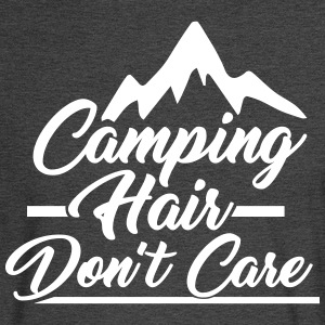 Camping Hair Don't Care for Outdoor Campers - Men's Long Sleeve T-Shirt
