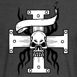 Skull on Cross - Men's Long Sleeve T-Shirt