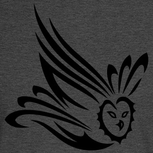 Small flying owl. Tribal and Tattoo Art. - Men's Long Sleeve T-Shirt