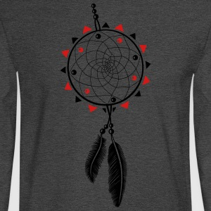 Dreamcatcher with sun and two feathers - Men's Long Sleeve T-Shirt