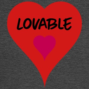 lovable heart - Men's Long Sleeve T-Shirt