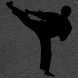 Kung fu fighter silhouette 4 - Men's Long Sleeve T-Shirt