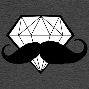 Diamond with Moustache - Hipster - Swag - Men's Long Sleeve T-Shirt