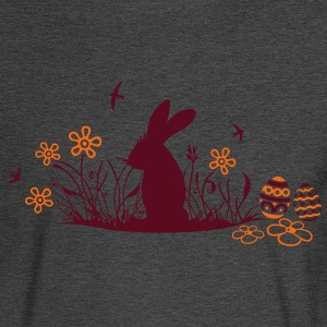 Easter bunny with Easter Eggs and flowers - Men's Long Sleeve T-Shirt