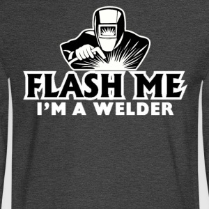 Flash ME I'm a Welder T-Shirt - Men's Long Sleeve T-Shirt