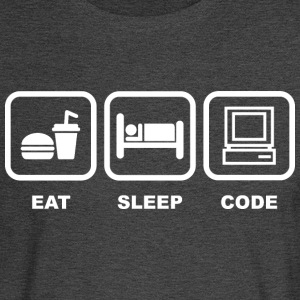 Eat Sleep Code T Shirt - Men's Long Sleeve T-Shirt