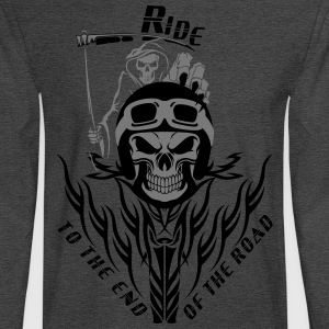 Biker Reaper Ride To The End Of The Road - Men's Long Sleeve T-Shirt