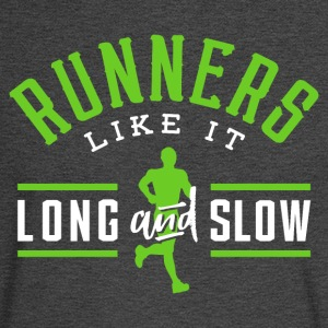 Runners Like It Long And Slow - Men's Long Sleeve T-Shirt