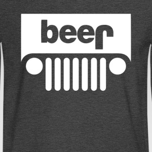 Funny BEER JEEP - Men's Long Sleeve T-Shirt